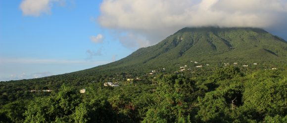 View of Nevis Peak from Hill Rise House