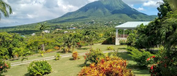 Nevis peak from the guest cottage