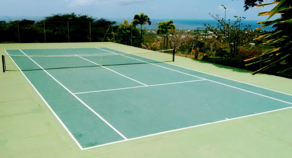 The Tennis Court at Hill Rise House - Nevis